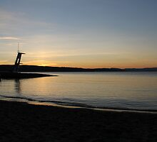 Beach at night. Oslo fjord. End of summer. by UpNorthPhoto