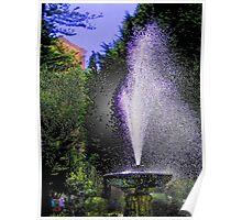 The Fountain In Parque Calderon Poster