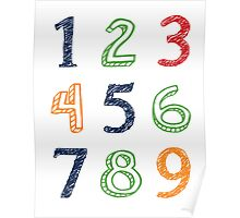 Numbers 123 Poster Poster