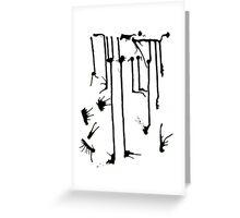 Black Splashes Greeting Card