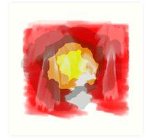 Inner Plom Red Art Print