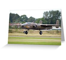 B-25 Mitchell on Take off Greeting Card