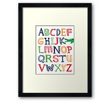 Alligator ABC Poster Framed Print