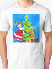 MERRY CHRISTMAS by Lollypop Arts Unisex T-Shirt