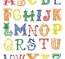Alphabet Poster by friedmangallery