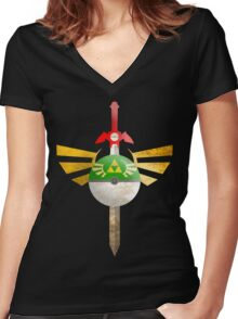 Link, I Choose You Women's Fitted V-Neck T-Shirt