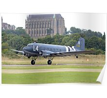 DC-3/C-47 Taking off from Shoreham airport Poster