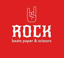 Rock beats paper and scissors Unisex T-Shirt