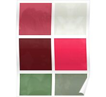 Red Rose Edges Abstract Rectangles 1 Poster