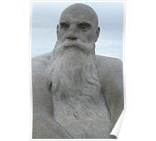 Bearded Man, Gustav Vigeland Poster