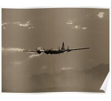 B-29 Bomber Fighter Plane Poster
