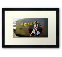 Diamond Lil - Bomber Aircraft Art Framed Print
