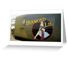 Diamond Lil - Bomber Aircraft Art Greeting Card