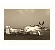 P-51 Mustang Fighter Plane - Classic War Bird Art Print