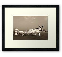 P-51 Mustang Fighter Plane - Classic War Bird Framed Print