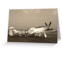 P-51 Mustang Fighter Plane - Classic War Bird Greeting Card