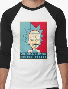 RICK SANCHEZ WUBBA LUBBA DUB DUB Men's Baseball ¾ T-Shirt