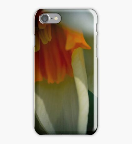 Yellow centred daffodil in the moonlight iPhone Case/Skin