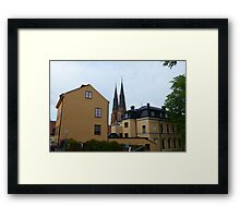 Street Architecture in Uppsala Framed Print
