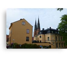 Street Architecture in Uppsala Canvas Print