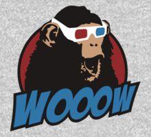 Wooow - 3D amazed Ape Kids Clothes
