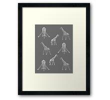 Strike a Pose (Giraffe) Framed Print
