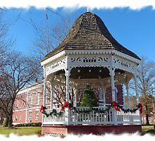 Gazebo and Courthouse by Susan S. Kline