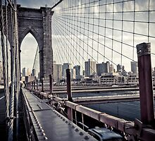 Brooklyn Bridge, New York by Jane M.