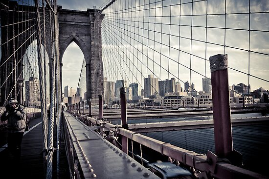 Brooklyn Bridge, New York by Jane M.