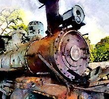 Rusty Train, Havana, Cuba by buttonpresser