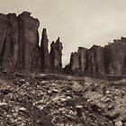Moab Utah Hwy 128 Sandstone Cliffs Holga Photograph by strayfoto