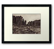 Moab Utah Hwy 128 Sandstone Cliffs Holga Photograph Framed Print