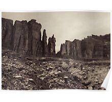 Moab Utah Hwy 128 Sandstone Cliffs Holga Photograph Poster