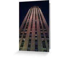 Night Skyscraper Greeting Card