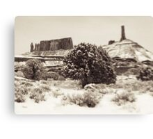 Holga Photo of Castle Valley, Utah In Winter  Canvas Print