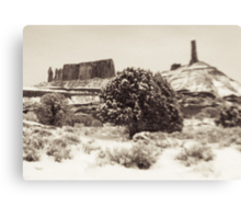 Holga Photo of Castle Valley, Utah In Winter  Canvas Print