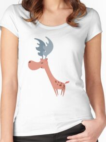 Pink Deer Women's Fitted Scoop T-Shirt