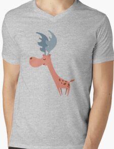 Pink Deer Mens V-Neck T-Shirt