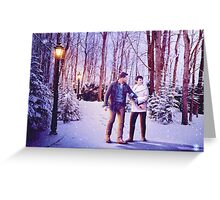 Snowing In The Snow Greeting Card