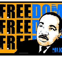 MLK-FREEDOM BLUE COLOURIZED by OTIS PORRITT