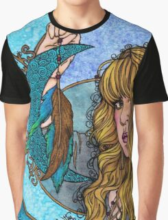 Turquoise Moon Graphic T-Shirt