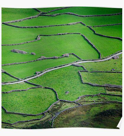 Mosaic, Wasdale Head, Lake District National Park Poster