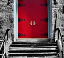Red Door - selective colour Sticker