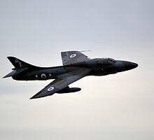 Hawker Hunter T7 by mike  jordan.
