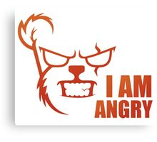 I AM ANGRY Canvas Print