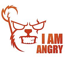 I AM ANGRY Photographic Print