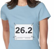 26.2 Running Shirt Tag Womens Fitted T-Shirt