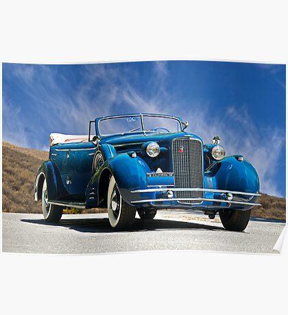 1934 Cadillac Convertible Sedan III Poster