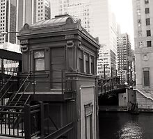 Black and White Boat House Chicago Photography by gurso27