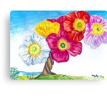 Poppy Trees Canvas Print